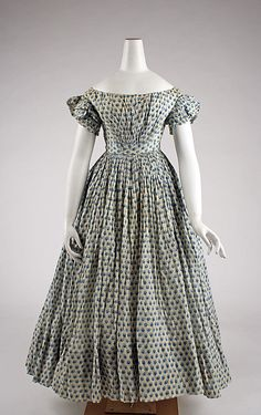 child's Dress 1835, American, Made of cotton