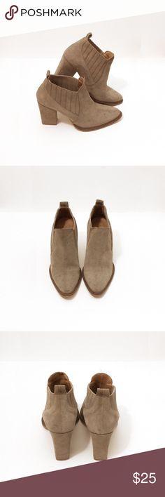 """Zara Suede Beige Booties Size: 38 with 3.5"""" Heels Zara Shoes Ankle Boots & Booties"""