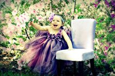 Purple pearl flower girl tutu dress Size up to 2T by Gurliglam