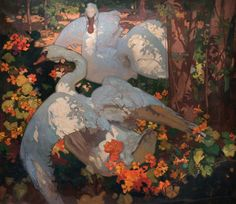 Frank Brangwyn was an English former apprentice of William Morris, while Yoshijiro Urushibara was an expert Japanese woodblock artist. In the early part of the 20th century, they made prints together that blended their artistic styles and showed their shared adoration of nature