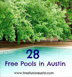 Free Fun in Austin: Free Pools in Austin - 2013 Schedules