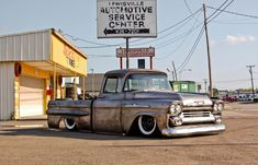 Sweet 1958 Chevrolet Apache in Bare Metal from Hale's Speed Shop
