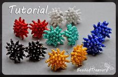 "* Beaded Treasury: FREE TUTORIAL: ""Starlet"" beadwoven earrings"