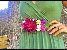 Cómo hacer un cinturón de flores fácil . DIY - YouTube