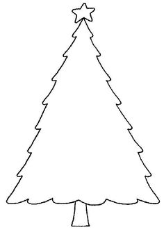 Simple Christmas Tree Coloring Pages | Coloring Pages | Pinterest ...