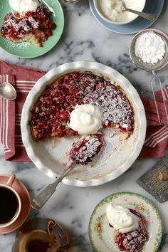 Cranberry Orange and Cream Clafoutis | Joy The Baker | Bloglovin'