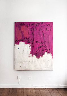 'Pinknic,' pink abstract painting by Juan Luis Fernández available at Saatchi Art #pink #SaatchiArt