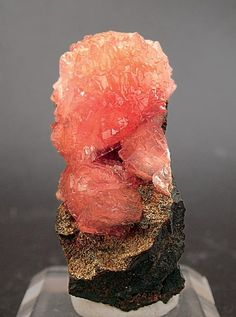 Olmiite from South Africa - Formerly thought to be the species poldervaartite from a previous find at the same mine in 2003.  Extraordinarily color-sensitive to the light spectrum in which they are viewed: more red/pink in spectrum-balanced halogen or normal sunlight, and more peach/pink in fluorescent lighting.