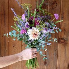 Eucalyptus Bouquet, Lavender Bouquet, Purple Wildflowers, Wild Flowers, Wild Flower Bouquets, Wild Flower Arrangements, Wildflowers Wedding, Wildflower Bridal Bouquets, Dahlia Wedding Bouquets