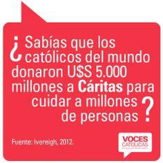"""Pieza CÁRITAS de la campaña viral """"¿Sabías que?"""" para Voces Católicas Argentina."""
