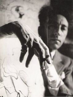Jean Cocteau, photography by André Papillon in 1939