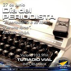 Feliz Día del Periodista a todo los comunicadores de #Venezuela y a los que integran la familia de #Victoria1039FM. ¡Gracias por estar siempre! #TuRadioVialInformativa #FelizDíaDelPeriodista