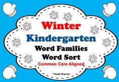 Winter Kindergarten No Prep Word Families Word Sort has these word sort worksheets:at,anag,apab,axad,am,ar,awed,eneg,etell,essig,imin,ipid,illib,itob,ogop,otoo,owub,ugud,umun,ut