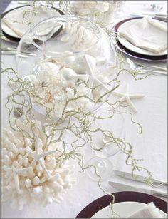 beautiful ideas for a beach Christmas table