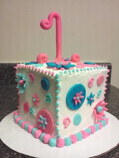 whimsy 1st birthday smash cake done for a photo shoot