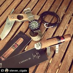 #Repost @steven_cigale  Today's treat : a #Cumpay short ... That's really a nice cigar !  - @lesfineslames @mayaselvacigars @laboomdesign @traserwatches