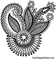 Paisley Coloring Page 32