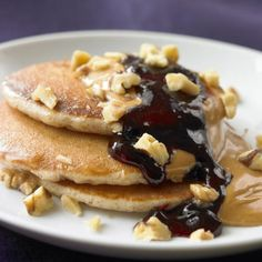 Blueberry and Peanut Butter Pancake