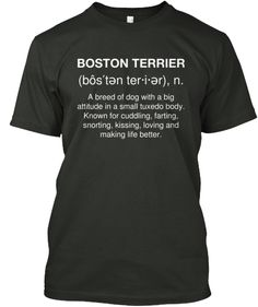 Boston Terrier Definition   Teespring