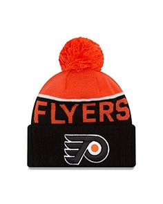 new style 54760 403ea Philadelphia Flyers NHL Sport Knit Hat by New Era. Wool - Lining Cuffed  knit hat Pom on top One size fits most Officially licensed Imported Brand   New Era