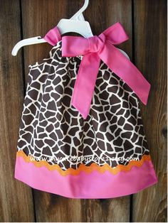 Hey, I found this really awesome Etsy listing at http://www.etsy.com/listing/122365208/giraffe-print-pillowcase-dress