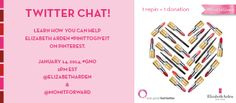 Join @Elizabeth Lockhart Lockhart Arden and @Victoria Brown Olson It Forward for a Twitter Party today at 2PM ET using #gno and #PinItToGiveIt to chat about confidence and learn how you can help donate lipstick to women undergoing cancer treatment.
