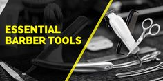 Essential Barber Tools, Supplies, Equipment's That You Must Have  http://barbertrim.com/barber-tools/  #BarberTools #EssentialBarberTools