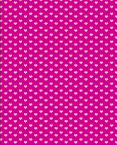 pink hearts on fuschia background - free paper printable