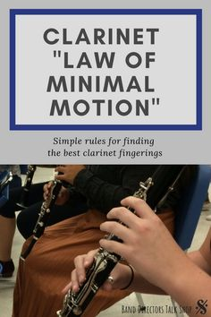 """The Clarinet """"Law of Minimal Motion"""" - Band Directors Talk Shop Music Lesson Plans, Music Lessons, Middle School Music, Music Classroom, Classroom Ideas, Music Teachers, Band Director, Music Worksheets, Music Activities"""