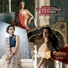 Find grace at 15 Mohey Stores in handpicked #Lehengas #Sarees #Suits #Gowns. #CelebrationWear #women