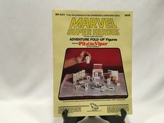 Marvel Super Heroes Pit of the Viper Fold Up Adventure TSR 1984 #6858 Uncut #TSR