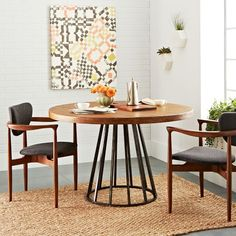 Copenhagen Reclaimed Wood Round Dining Table | west elm $1,444 - Such a shame it's so expensive! I'll just have to appreciate the beauty of reclaimed wood from afar. ;-(