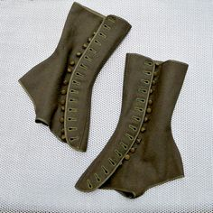 Steampunk Gaiters Gaiters Spats WW1 Military by vintagefriends via Polyvore