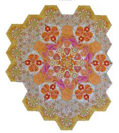 The New Hexagon Millefiore Quilt-Along: Rosette #4