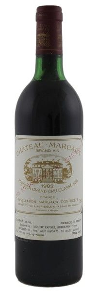 1982 Margaux. Type: Red Wine, Bordeaux Red Blends (Claret), Premier Cru (First Growth), 750ml. Region: France, Bordeaux, Margaux. 635$ (15.875 Kc)