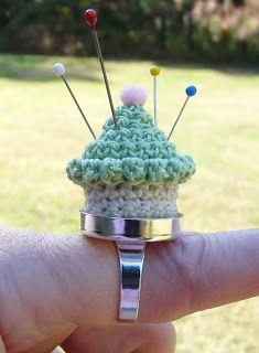 Whiskers & Wool: Cupcake Pincushion Ring