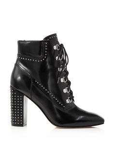 fd5e78c4e8c62a Sigerson Morrison Valora Studded Lace Up Block Heel Booties - Exclusive  Shoes - Bloomingdale s