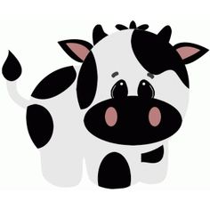 Silhouette Design Store - View Design cow on the farm Cow Clipart, Cute Animal Clipart, Baby Farm Animals, Cute Animals, Cow Drawing, Cow Colour, Farm Animal Crafts, Cartoon Clip, Cow Face