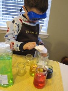 Pretend play science lab