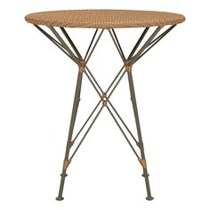 WHISK RATTAN WOVEN TOP SIDE TABLE ROUND 52 - JANUS et Cie