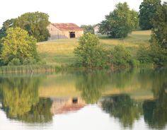 Barn and reflection