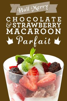 Healthy Chocolate and Strawberry Macaroon Parfait