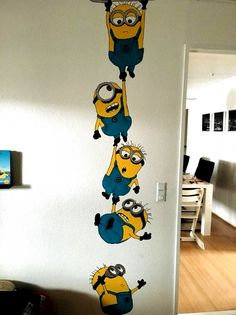 Simple Wall Paintings, Creative Wall Painting, Wall Painting Decor, Diy Wall Art, Diy Wall Decor, Diy Painting, House Painting, Painting Bedrooms, School Wall Decoration