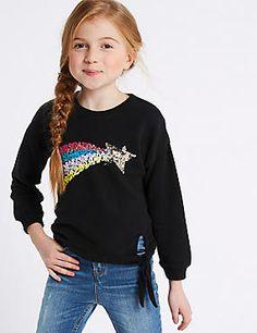 Cotton Rich Sequin Sweatshirt (3-16 Years)