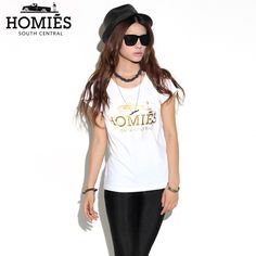 White Homies Tee With Gold Foil - FixShippingFee- - TopBuy.com.au