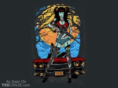 Zombie Babe T-Shirt - http://teecraze.com/zombie-babe-t-shirt/ -  Designed by Wicked Clobber    #tshirt #tee #art #fashion