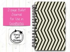 2-page Bullet Journal for GoodNotes with bonus STICKERS   Etsy Starry Eyed, The Dreamers, My Etsy Shop, Bullet Journal, Unique Jewelry, Handmade Gifts, Stickers, Journal Ideas, Kid Craft Gifts