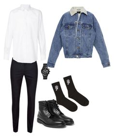 Untitled #63 by denisa-gabriela on Polyvore featuring polyvore, Dolce&Gabbana, Topman, Fear of God, 21 Men, FOSSIL, men's fashion, menswear and clothing