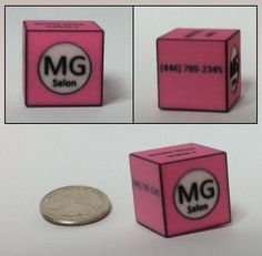 3D printed business card (business cube?)
