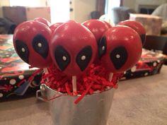 Deadpool cake pops